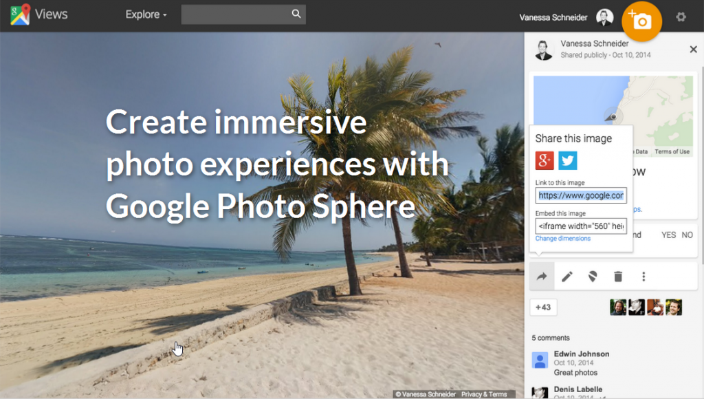 Screenshot of Google Photo Sphere tutorial