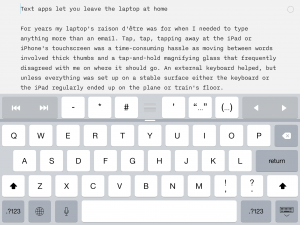 IA Writer landscape