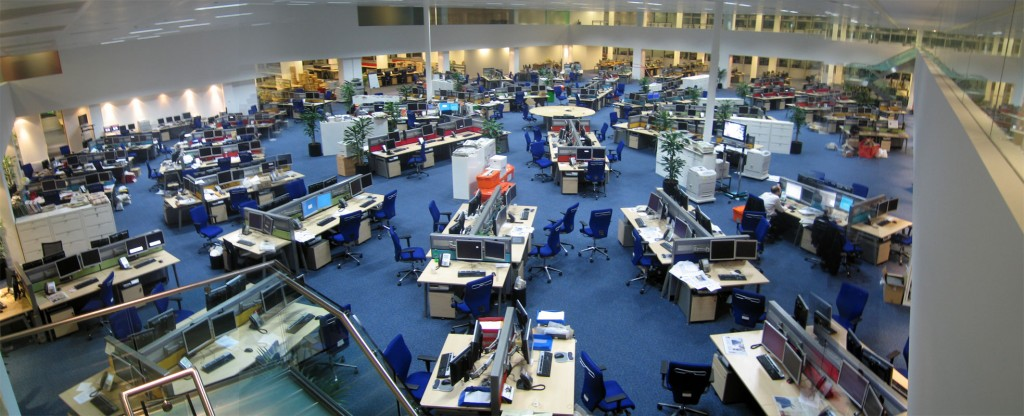 Photo of large newsroom