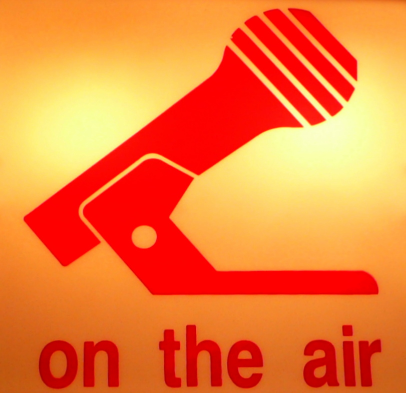 """Photo of an """"On Air"""" sign"""