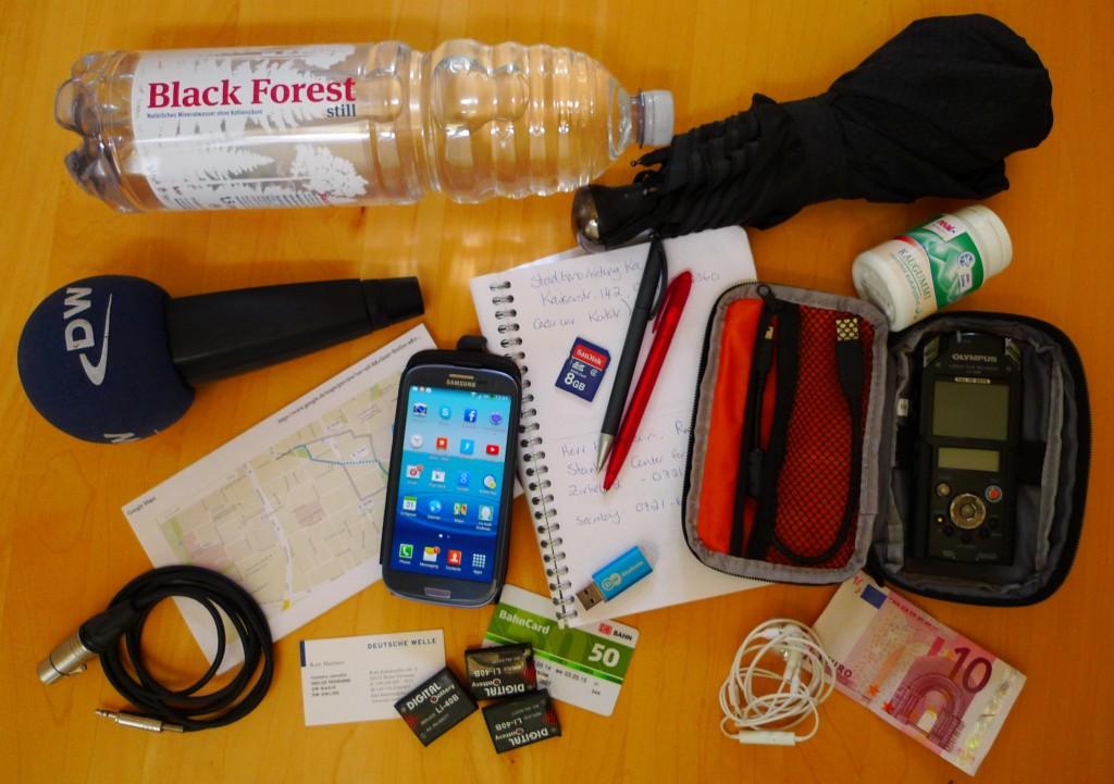 Reporters equipment checklist