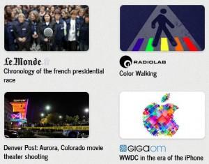 Screenshot of timelineJS examples