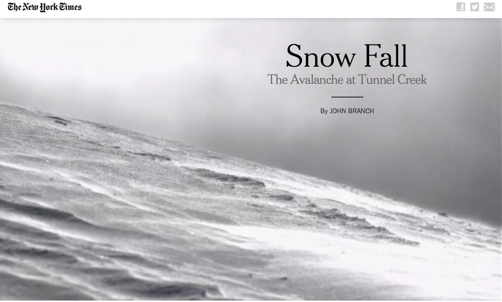 """""""Snowfall"""", New York Times"""
